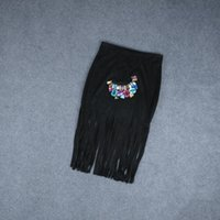 e86b920f98f New Arrival. Chichoose Summer Slim Tassel Skirt High Waist Suede Fringed  Leather Fashion Women Sexy Black Skirts ...