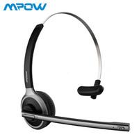 Caminhão sem fio MPOW M5 Bluetooth V4.1 Headset motorista mãos livres Auscultadores Chamada fone de ouvido com microfone para Call Center Escritório Skype T191021