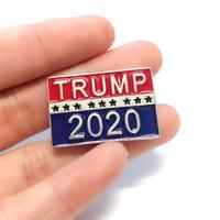 دونالد ترامب للرئيس 2020 ثقب الجمهوري الأزياء بروش شارة الدبوس صديق هدية TRUMP 2020 رمز شارة VT1101