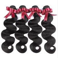 Lady Human Hair Bulks 9a Brazilian Body Wave Mänsklig Hår Virgin Remy Naturlig Svart För Balck Kvinnor FZP219
