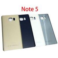 Samsung Galaxy Note5 Not Yeni Arka Pil Kapı Logo + Sticker ile 5 N920 N920F Arka Cam Konut Kapak