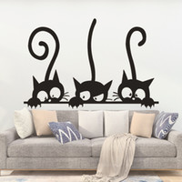 Lovely Three Black Cat DIY Pegatinas de Pared Animal Habitación Decoración personalidad Vinilo Tatuajes de pared envío gratis
