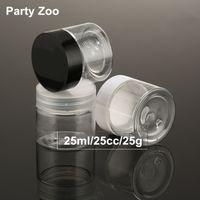 25ml Temizle Plastik Kozmetik Kavanoz PET Kişisel Cilt Bakımı Krem Bottle 25g Kozmetik Konteynerleri Kavanozları Numune Mini Göz Kremi Kavanoz