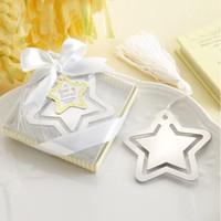 Star Bookmark avec gland blanc pour baby-douche baptême de mariage cadeau de fête
