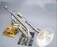 Genuine doppio argento Bach Tromba placcato strumento musicale AB-190S tromba con il boccaglio di trasporto