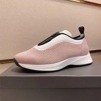 Черный Мода нескользкую на B25 кроссовки Лучшие качества Мужская обувь Женская Розовый Knit Mesh неопрена с низким верхом Бег Тренеры Холст Повседневная обувь с коробкой