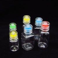 Перезаправляемые Бутылки пластиковые Empty Макияж Jar Пот Путешествие ПЭТ с бутылки пробкой пластиковый контейнер 30ml / 60ml