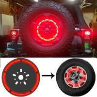Luz de freio de pneu sobressalente LED 3Rd Terceira Lâmpada de iluminação de roda para Jeep Wrangler 1997-2018 JK TJ LJ YJ CJ