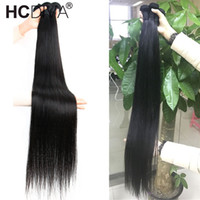Бразильские прямые 3 пакета дешевые наращивания человеческих волос 100% настоящие человеческие волосы ткачество 30 32 32 36 38 40 дюймов Быстрая бесплатная доставка