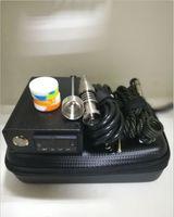Günstige tragbare E Nagel D-Nagel tupfen Rig Kit elektrische Temperaturregler Box mit 16mm 20mm Titan Quarz Nagel für Glas Wasserpfeife