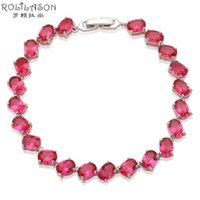 ROLILASON Romantic Style Rose pink Crystal Perfect Gifts for...