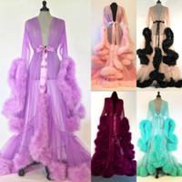 Heiße Verkaufs-Art- und Kleid Kult Pelz Babydolls Schlaf-Abnutzungs-reizvolle Frauen-Wäschesleepwear-Spitze Robe Nachtkleid Nightgrown Robes