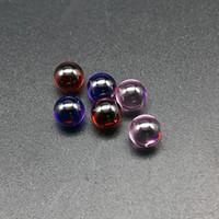 Mais recente Cor Quartz Terp Dab Pérolas 6mm OD Rosa Vermelha Roxo Quartz Terp Pérolas Inserção Bola Para Bongos De Quartzo Bongos De Vidro De Água