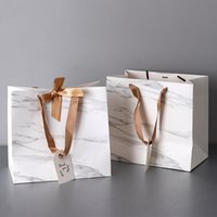 White gift bags with handles party favors gift bag Paper Bag...