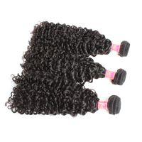 Bella Hair® 3pcs lot Curly Wave Weaves 100% Malaysian Hair Unprocessed Virgin Natural Color Human Wefts