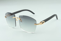 óculos de sol novos quentes A4189706-2 pernas de pau preto, fábrica de qualidade superior direto óculos de moda unissex