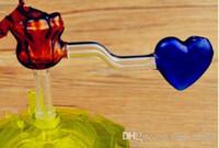 Hookah accessories [rose] pot Wholesale Glass bongs Oil Burner Glass Water Pipe Oil Rigs Smoking, Oil.