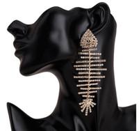Avrupa ve Amerika'da yeni ürünler abartılı büyük isim çok katmanlı elmas balık kemik küpe kadın pençe zinciri moda küpe Boh