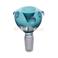 ReadyMade 14 мм мужская стеклянная чаша для бонсов Аквамариновый цвет курение аксессуары готовы к отправке