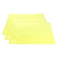 3x Коррекция цвета гель фильтр накладываемых Прозрачность Цвет пленки пластиковые листы Gel Освещение Фильтры желтый