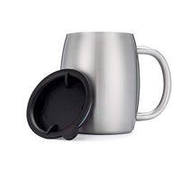 Billigste 14 Unzen Edelstahl Kaffeetassen mit Griff Spill-Proof Deckel 14 Unzen Doppelwandige isolierte Kaffee-Bier-Becher, kann geschliffene Farben tun
