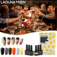 Lagunamoon 6pcs Set Kit Gel de Ação de Graças UV Verniz Verniz Gellak Gelpolish Semi Permanente esmalte Stamping Pintura Gellack