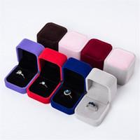 Квадратное кольцо розничная коробка свадебные ювелирные изделия серьги кольцо держатель защитные корпусные корпусы свадебные подарочные ящики для ювелирных изделий