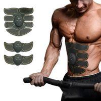 Estimulador muscular corpo emagrecimento Shaper Máquina Abdominal Muscle Exerciser Formação Fat Burning Body Building Academia Massager