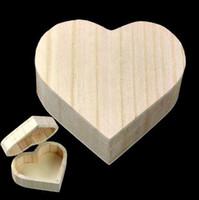 Boîte de rangement en forme de coeur Boîte en bois Boîte à bijoux de mariage Maquillage cadeau cosmétique Boucles d'oreilles Bureau Anneau RANGEMENT Make Up Organisateur en bois