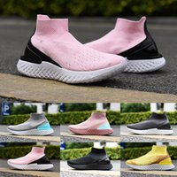 TOP 2019 Rise React Fly Knitting Running Shoes Thunder Grey ...