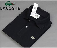 New 2019 Man Polo Shirt Mens Casual Crocodile Embroidery Cot...