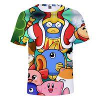 Mens T-shirts Verão 2020 Hot Star Game Kirby 3D Camiseta Hip Hop manga curta T-shirt engraçado do moderno Graphic Tees Roupa Anime