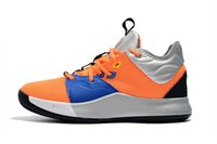 2019 New PG 3 3S P.G NASA Noir Blanc Chaussures de basketball PG3 Starry Bleu Orange Baskets Sports de plein air Taille Jeune 40-46