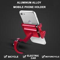 سبيكة دراجة حامل الهاتف دراجة نارية هاتف حامل جبل العالمي الألومنيوم المقود دراجة دراجات النارية ل XS فون تقف