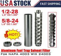 USA Stock Spiral 1/2-28 ou 5/8-24 Filtre à carburant à noyau unique pour NAPA 4003 WIX 24003 Solvant de voiture PQY-ALF03 / 04