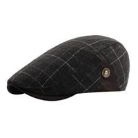 2018 NUOVO arrivo Inverno Uomo Plaid Vintage Ajustable Gatsby ha alzato i cappelli invernali da uomo Cap Newsboy Hat Beret cofano femme