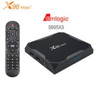 X96 Max + Amlogic S905X3 Android 9.0 Akıllı TV Kutusu 2.4G 5G WiFi 8 K Ultra HD VP9 HDR Media Player 1000m LAN BT4.0 Set üstü Kutusu