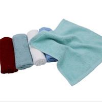 10pcs algodón puro trapo de cocina LOGO tela gruesa buen absorbente de té cuadrada, servilletas se pueden personalizar envío