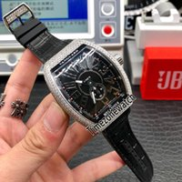 Новый Vanguard V45 SC DT стальной Алмазный корпус дата черный циферблат Miyota автоматические мужские часы черный кожаный / резиновый ремешок часы Timezonwatch M-E88