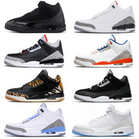 Nike Air Jordan retro 3 New Arrival tênis de basquete 3 3s Red Preto Cimento Tinker Jumpman III Mens Sports Sneakers UNC animal Ture azul branco preto Marca Trainers