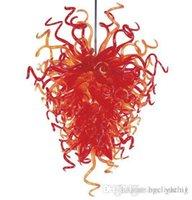 Coly Shape Rouge Couleur Souffle Spoulad Lampes 100% à la main Borosilicate Verre Moderne Art Decor Lustre à LED pour Livingroo