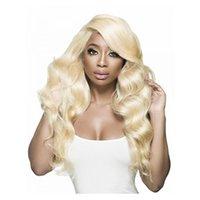 613 Body Blonde Vague 100% perruques de cheveux humains non transformés brésilienne de dentelle avant de dentelle perruque Pré plumé 8 Hairline ~ 20inches pour les femmes noires