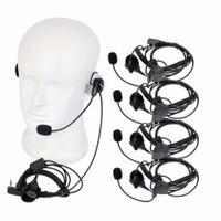 5PCS / jogo 2 Pin Mic dedo 888s PTT Headset Para Kenwood Para Baofeng UV5R Para HYT Walkie Talkie Accesscories CB Radio C9029A