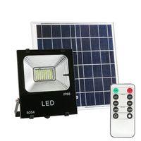الخفيفة للطاقة الشمسية 100W ترددات الراديو عن بعد لوحات التحكم في الهواء الطلق الإضاءة ماء IP67 إضاءة الشوارع حديقة LED الشمسية الكاشف