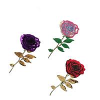 18,5 * 34 cm Goldgewinde Rose Stickerei Pailletten Patches Vorstellungen für Kleidung Spitze Trim Patch Kleidung Dekoration DIY Nähzubehör
