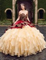 Nakış Katmanlı Etekler Lace Up Kat Uzunluk Vestido De Festa İle Yeni Sweet 16 Sweetheart Burgonya Balo Quinceanera Modelleri