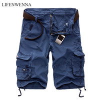 LIFENWENNA Mens Cargo Shorts 2020 nuovo esercito camuffamento tattico Shorts cotone sciolto lavoro occasionale pantaloni corti