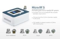 휴대용 4 팁 분수 Microneedle RF 얼굴 피부 리프팅 기계 스트레치 마크 여드름 제거 스킨 케어 회춘 무선 주파수 장치