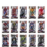 Marvel 30CM et son action Lumière Figure cadeau Avengers Iron Man Hulk Captain America Thor Thanos Batman Boy Gift