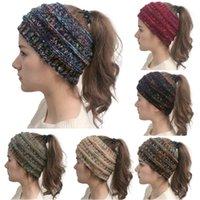 Donne Cavo lavorato a maglia fascia Inverno Headwrap Hairband Crochet Turbante Wrap Banda capo colorato dello scaldino dell'orecchio Trendy Lettera Accessori per capelli